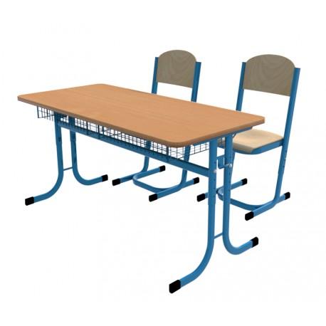 SKLADEM školní lavice a židle YGNÁC - vel. 5 - 7, modrá