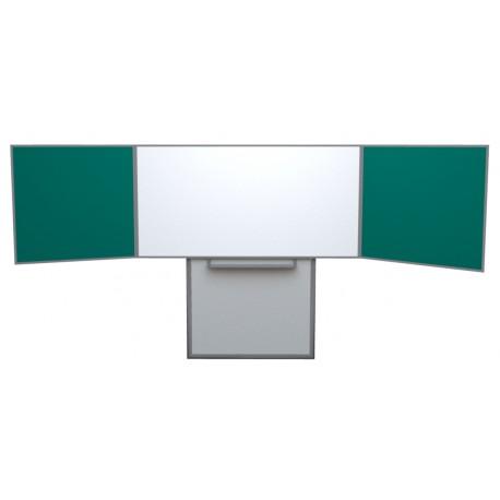 Keramická tabule TRIPTYCH, na pojezdu, bílý střed