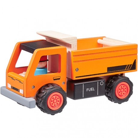Dřevěné nákladní auto WITO, série STAVEBNÍ STROJE