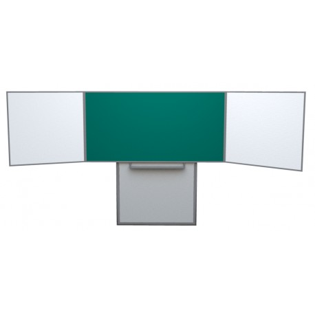Keramická tabule TRIPTYCH, na pojezdu, zelený střed