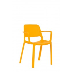 Celoplastová židle PIX s područkou
