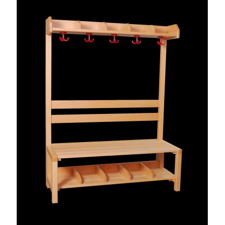 Dřevěná šatní stěna HOOKY