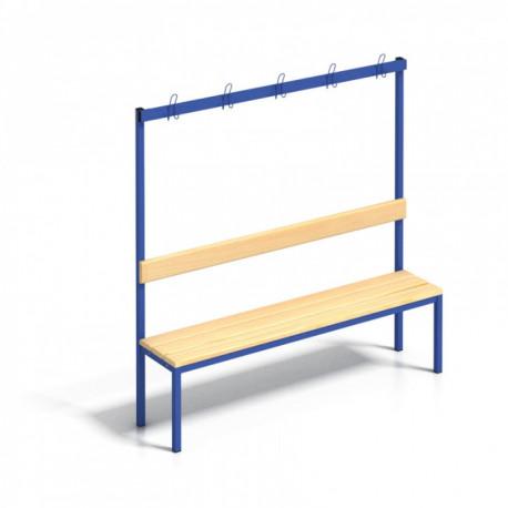 Šatní lavice s věšáky - 100 cm