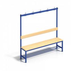 Šatní lavice s věšáky a roštem - 100 cm