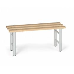 Šatní lavička, šedé nohy - 100 cm