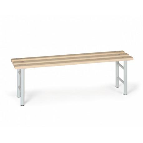 Šatní lavička, šedé nohy - 150 cm