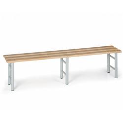Šatní lavička, šedé nohy - 200 cm