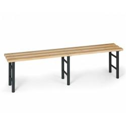 Šatní lavička, antracitové nohy - 200 cm
