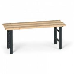 Šatní lavička, antracitové nohy - 100 cm