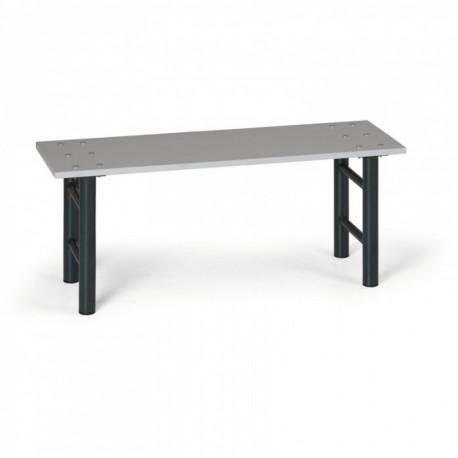 Šatní lavička, antracitové nohy, lamino - 100 cm