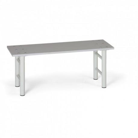 Šatní lavička, šedé nohy, lamino - 100 cm