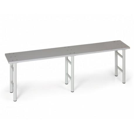 Šatní lavička, šedé nohy, lamino - 200 cm