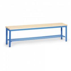 Šatní lavička s roštem, modrá - 150 cm