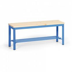 Šatní lavička s roštem, modrá - 100 cm
