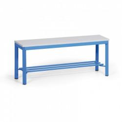 Šatní lavička s roštem, lamino, modrá - 100 cm