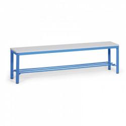 Šatní lavička s roštem, lamino, modrá - 150 cm