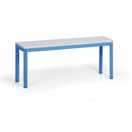 Šatní lavička, lamino, modrá - 100 cm