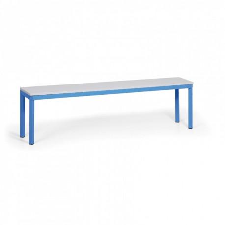 Šatní lavička, lamino, modrá - 150 cm