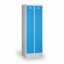 Kovová šatní skříň HOKO, se soklem, modrá