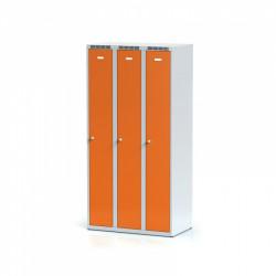 Kovová šatní skříň HOKO III, bez soklu, oranžová