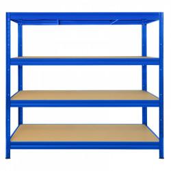 Regál s vysokou nosností - 450 kg, 177 x 240 x 60 cm, modrý
