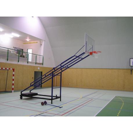 Sklopná basketbalová konstrukce - mobilní, interiér