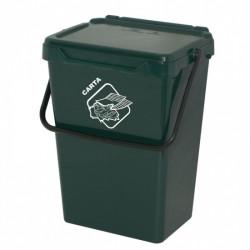 Koš na tříděný odpad TUTO, 35l, tm. zelený