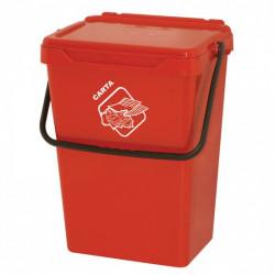 Koš na tříděný odpad TUTO, 35l, červený