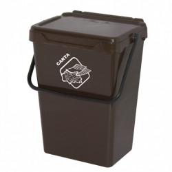 Koš na tříděný odpad TUTO, 35l, hnědý