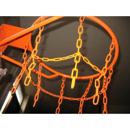Pevný basketbalový koš - s přiavařenou síťkou, komaxit