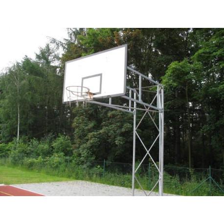 Pevná basketbalová konstrukce příhradová- vysazení do 2,5 m, exteriér