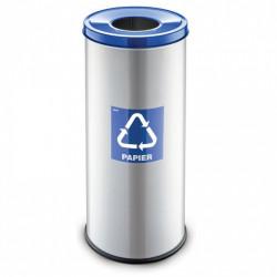 Koš na tříděný odpad RAVO, 45 L, stříbrný, papír