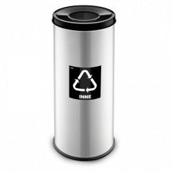 Koš na tříděný odpad RAVO, 45 L, stříbrný, směsný