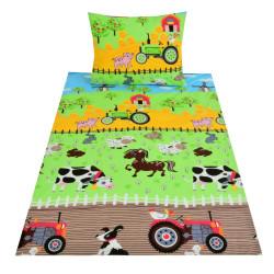 Dětské povlečení FARMA, barevné