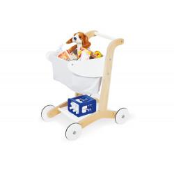 Nákupní vozík EMA - bílý