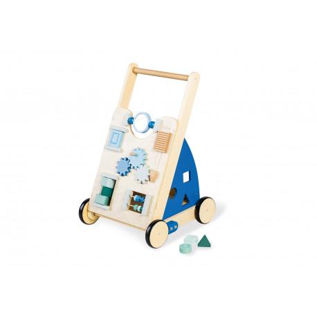 Vozík activity board - modrý