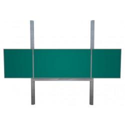 400x100 cm keramická tabule TRIPTYCH, na pylonech, zelená