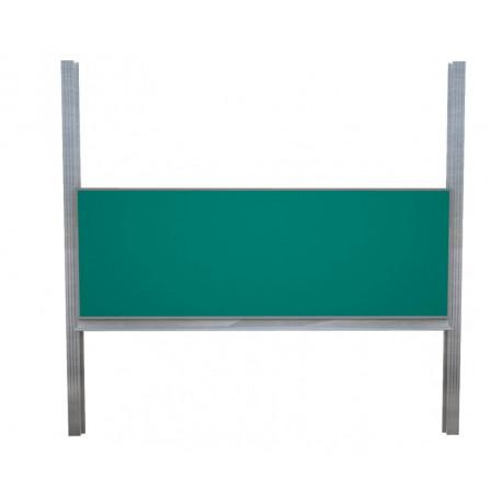 300 x 120 cm: Školní tabule na pylonech bez křídel, bílá