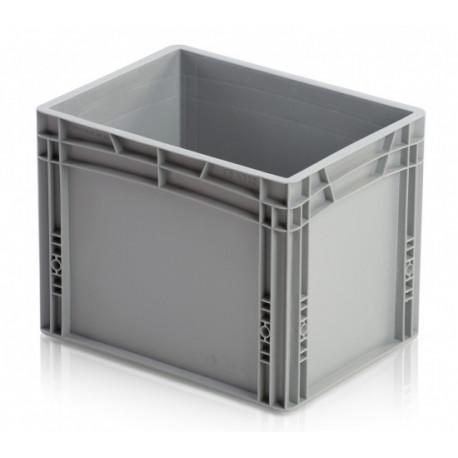 Plastová přepravka, uzavřené rukojeti, 400 x 300 x 320 mm