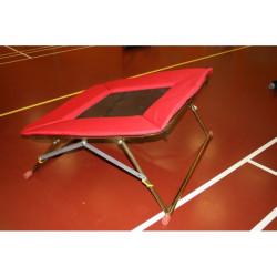 Trampolína 110x110 cm s pružným lanem - nastavitelná výška