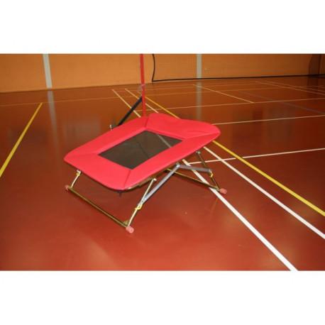 Trampolína 110x110 cm - nastavitelná výška, pružné lano: