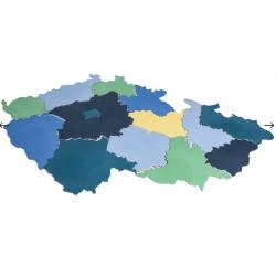 Pěnová barevná MAPA ČESKÉ REPUBLIKY