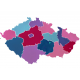 Pěnová nástěnná MAPA ČESKÉ REPUBLIKY