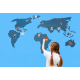 Pěnová samolepicí mapa světa