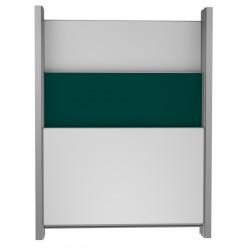 200 x 100 cm: Školní tabule na pylonech, 3 plochy