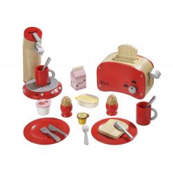 Snídaňový set - červený