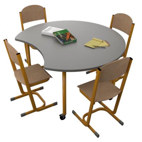 školní nábytek pro variabilní učebny - stůl OREO