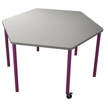 školní nábytek pro variabilní učebny - stůl HEXO