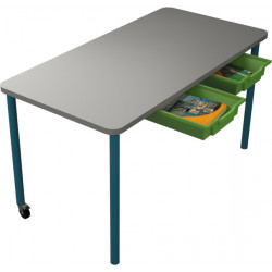 školní nábytek pro variabilní učebny - stůl DUO