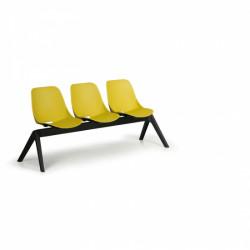 Moderní lavice SHELL, 3x sedák